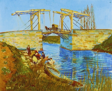 The bridge of Langlois at Arles with laundresses *oil on canvas *54 x 65 cm *March 1888 *